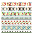 Ukrainian ethnic national border patterns for vector image vector image