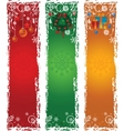 three vertical christmas banners vector image vector image