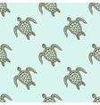Zentangle tribal stylized turtle seamless pattern vector image vector image