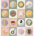food objects flat icons 20 vector image vector image