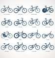 Bicycle Types vector image