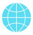 globe icon flat design symbol vector image