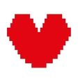 heart red pixel love icon vector image