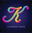 k letter logo icon blending color vector image