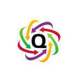 online marketing business distribution q vector image