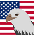 eagle on the background of the american flag icon vector image