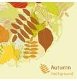Autumnal bright leaf background vector image