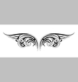 Tribal wings tattoo vector image vector image