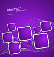 Square violet background vector image vector image