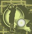 golfer vintage design vector image