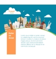 World landmarks background vector image