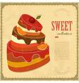 Vintage pastry Menu vector image vector image