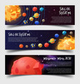 Banners for solar system astronomy mars mission vector image