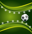 Football background with ball for design card vector image