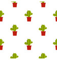 green cactus in red pot pattern seamless vector image