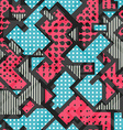 pink geometric seamless pattern vector image