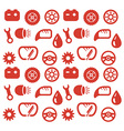 Seamless background spare parts vector image