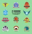 sport badge template teams or clubs school balls vector image