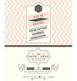 Vintage wedding invitation card template vector image