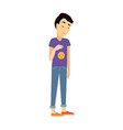 young man in depression flat vector image
