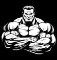 strict coach bodybuilding vector image