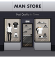 Man Sportswear Store Realistic Street View vector image