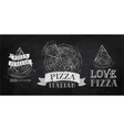 Pizza logo chalk vector image vector image