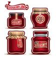 cranberry jam in glass jars vector image