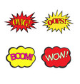 set of comic text effects pop art style vector image