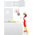 Chef assistant vector image vector image