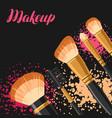 set of brushes for make up background for catalog vector image vector image