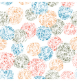 seamless doodles ball pattern vector image vector image