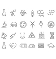 Science black icons set vector image