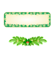 Banner Christmas Spruce and snowflakes vintage vector image