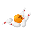 Bowling isolated on white background vector image