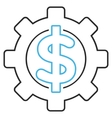 Financial Options Outline Icon vector image
