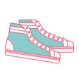 vintage classic sneakers laced fashion retro vector image