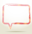 watercolor Speech Bubble Background vector image