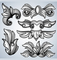 decorative ornate engraving scroll ornament vector image
