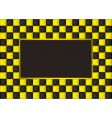 checkered picture frame vector image vector image