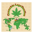 Legalization of marijuana or cannabis legalize vector image vector image