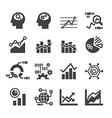 analytics icon set vector image vector image