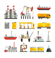 Oil Petrol Industry Icons Set vector image