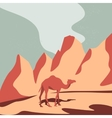 Camel and Desert vector image vector image