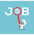 job search concept with magnifying glass vector image