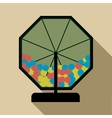 Lotto drum icon flat style vector image