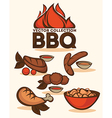 bbq collection vector image