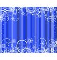 blue background with snowflakes illustratio vector image
