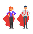 business characters in red cloaks vector image