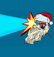 headlights car santa claus christmas character vector image